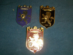 SET OF 3 LION'S CLUB PINBACKS-SAINT LAMBERT, QUEBEC-1990'S