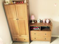 Wardrobe, Drawers (& Change Table) Child's