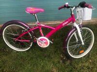 "Girls B'twin 20"" mistigirl 500 Hybrid Bike- Pink"