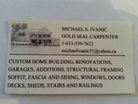 GOLD SEAL CARPENTER AVAILABLE TO INSTALL YOUR WINDOWS & DOORS