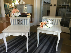 (2) Solid Wood French Provincial Style Side/End Tables