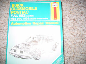 1985 to 93 Buick Olds Pontiac manual.