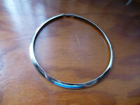 Sterling Silver 925 Choker Collar Made in Italy