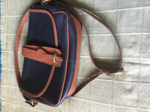 DOONEY AND BOURKE ALL WEATHER LEATHER EQUESTRIAN SHOULDER BAG