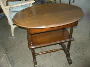 antique walnut hall table, gallery shelf, hidden drawer,restored Oakville / Halton Region Toronto (GTA) image 5