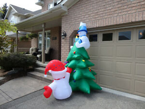 Brand New Gemmy Airblown Inflatable 8 Foot Tall Snowman & Tree Kitchener / Waterloo Kitchener Area image 5