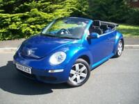 VOLKSWAGEN BEETLE 1.6 LUNA 8V CONVERTIBLE 2009/09, JUST 62,000 MILES FROM NEW