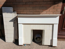 Fireplace surround, okay condition but great for Upcycling project