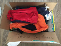 Free small box baby boy clothes 9 months