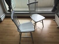 Selling two white 'Lyla' dining chairs from EQ3
