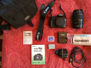 Canon Rebel XSi  DSLR Camera & Tamron 28 - 300 Lens.  Mint!
