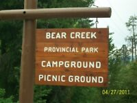 Bear Creek Provincial Park is hiring an Operations Manager