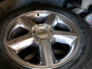 """20"""" Chrome Rims and 275/55/20 Tires"""