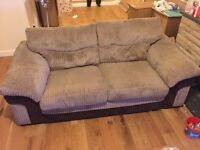 DFS 3 seater and 2 seater sofa