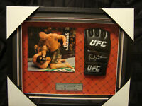Randy Couture framed & autographed fight glove