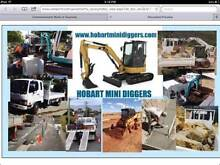 CONCRETING & HOBART MINI DIGGERS........... New Town Hobart City Preview