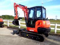Looking to rent: 3-4 ton mini excavator