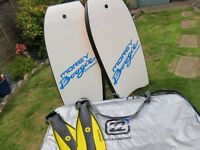 Body boards,bag and fins.