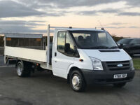 FORD TRANSIT 2.4TDCI T350 DURATORQ 115BHP FLAT BED TAIL LIFT IN WHITE. ONE OWNER
