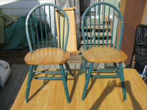 Solid Wood Table & 4 Chairs Needs TLC Now Only $40