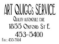 Art Quiggs Service Quality Automotive service for over 50 years