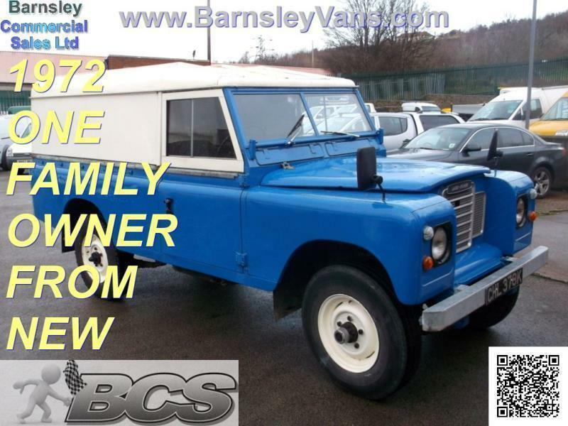 1972 land rover 109 lwb van 4 cylinder petrol one family owner from