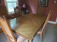 Solid Wood Stanley Dining Set and China Hutch