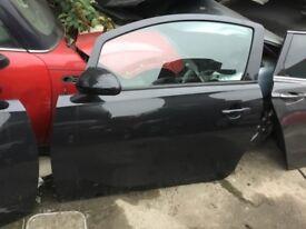 Vauxhall Corsa E N/S/F 3 door in black z20r 15-17