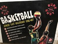 Junior basketball back board , ring , net and wall fixings