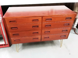 Vintage retro Danish rosewood TV cabinet sideboard chest of drawers