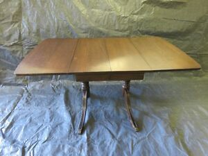 Solid wooden table refinished London Ontario image 1