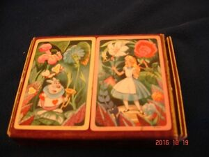 Vintage Alice In Wonderland Playing Cards