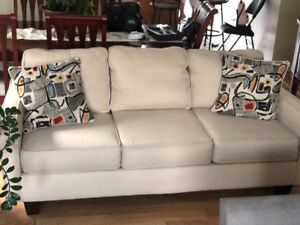 Contemporary-Chic Sofa Gently Used