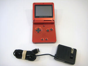 *****NINTENDO GAME BOY ADVANCE SP ROUGE / RED NINTENDO GAMEBOY ADVANCE SP + JEUX/GAMES A VENDRE/FOR SALE!*****