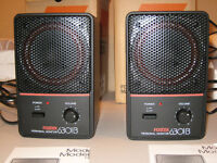 2 Fostex 6301B Powered Monitor Speakers