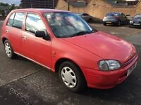 Toyota Starlet Gls Red very low mileage 1.3 Petrol mot 01/03/2017
