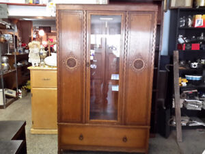 ANTIQUE ARMOIRE CUPBOARD FROM IRELAND $245.00 OR BEST OFFER