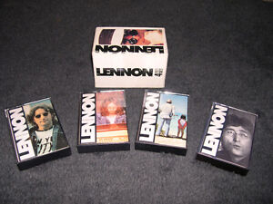 John Lennon (Beatles) - Coffret de 4 cassettes audio originales