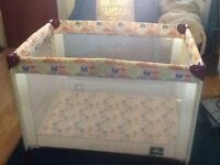 Kids Couture Travel cot -butterfly design £30
