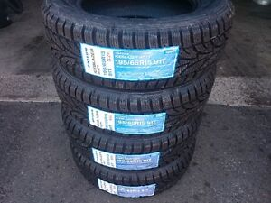 (4) 195/65/R15 SAILUN ICE BLAZER WST1 91H XL WINTER TIRES