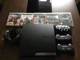 PS3 160GB, 5 Games, 3 Controllers