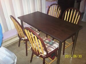 table et chause