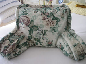 VINTAGE '60's PLUSH ARM-CHAIR-STYLE PADDED 100% COTTON CUSHION