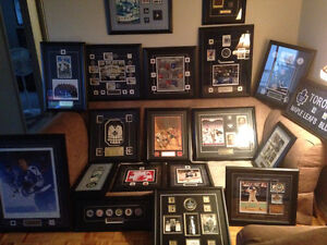 TORONTO MAPLE LEAFS SIGNED FRAMED PICS / JERSEYS WITH COA'S