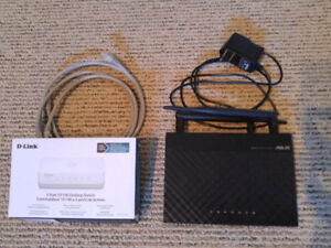 Asus Wireless bgn Router RT-N12 && D-Link 5 Port Switch