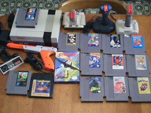 Nintendo NES console, video games and accessories