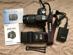 Canon EOS SL1 DSLR with 18-55mm IS STM Lens, Flash & Bag