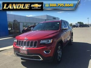 "2015 Jeep Grand Cherokee Limited  PANO SUNROOF, DUEL DVD, 20"" WH"