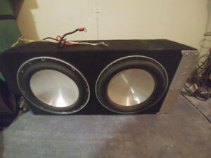 2 12inch eclipse subs with amp and capacitor