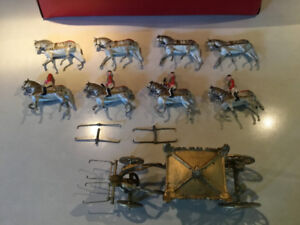Britains 1937 Coronation Coach model with figurines